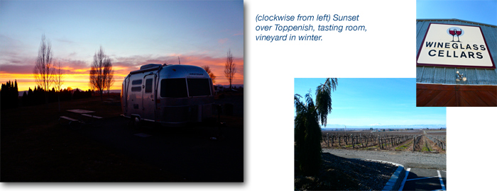 Airstream road trip Yakima Washington vineyard wine tasting