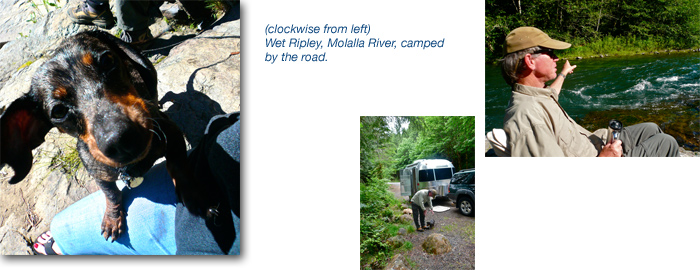 Airstream camping Molalla River Oregon Bigfoot