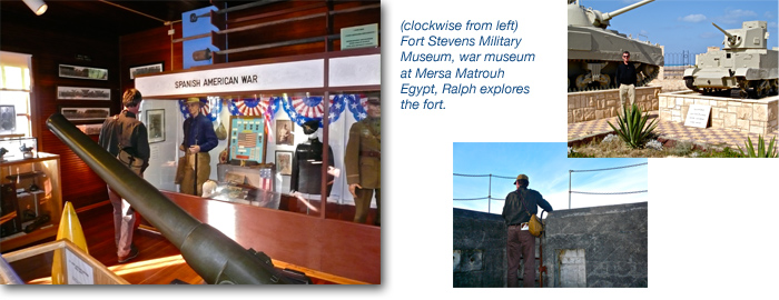 Men and history; Airstream camping - historical sites and military forts