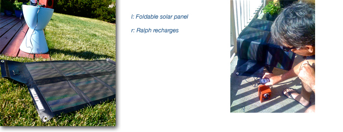 Airstream travel using alternative energy: Brunton portable solar panel