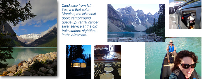 Airstream camping at Lake Louise, Banff National Park, Alberta, Canada