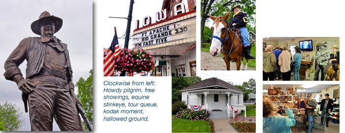 Airstream road trip, Winterset, Iowa, birthplace of John Wayne
