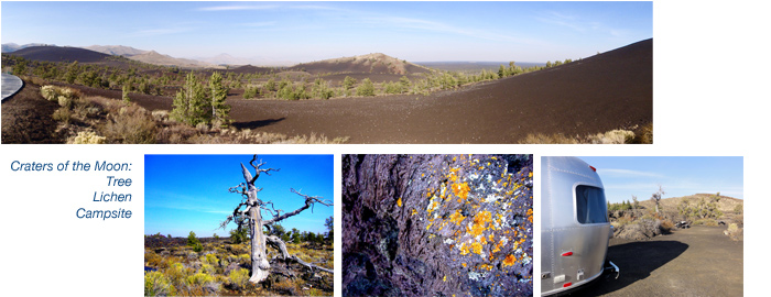 Airstreaming in Craters of the Moon Idaho