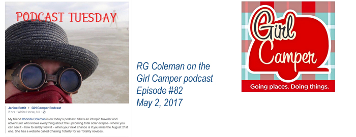 RG Coleman on Girl Camper podcast episode #82 May 2 2017