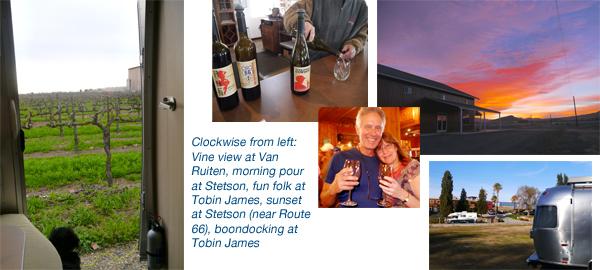 Airstream camping at Harvest Hosts vineyards, wineries, tasting rooms