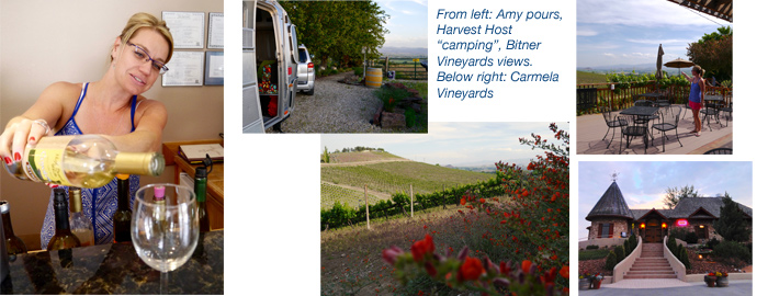 Harvest Host Airstreaming at Bitner Vineyards Idaho