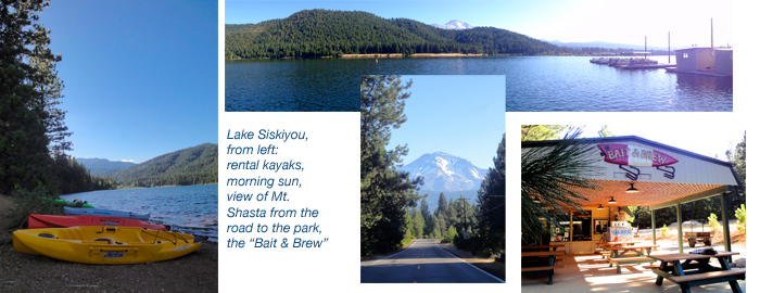 Airstreaming at Lake Siskiyou Resort, Shasta, California