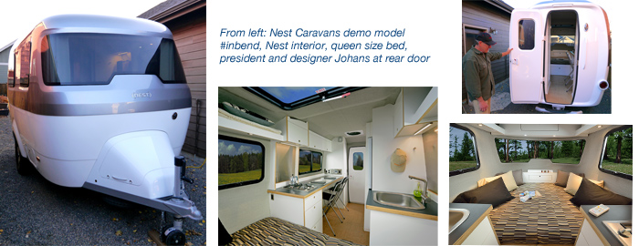 Nest Caravans, molded fiberglass trailers in Bend Oregon