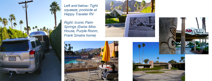 Airstream vacation in Palm Springs at Happy Traveler RV Park