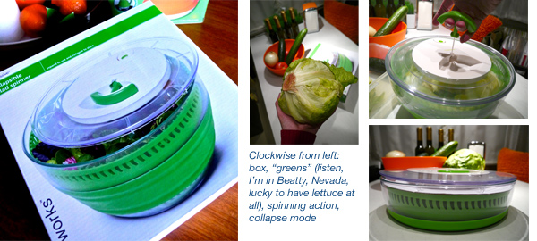Airstream camping with Prepworks Collapsible Salad Spinner