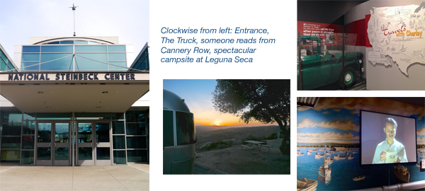 Airstream trip to Salinas, California, National Steinbeck Center, Laguna Seca
