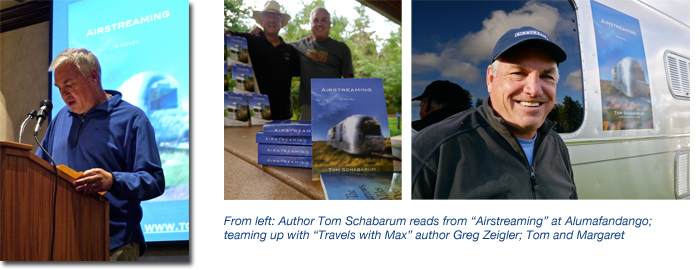 "Airstream author Tom Schabarum and his novel ""Airstreaming"""