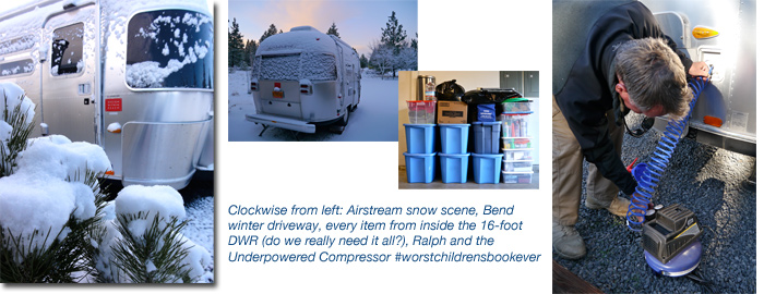 Airstream and RV winterizing, Bend, Central Oregon
