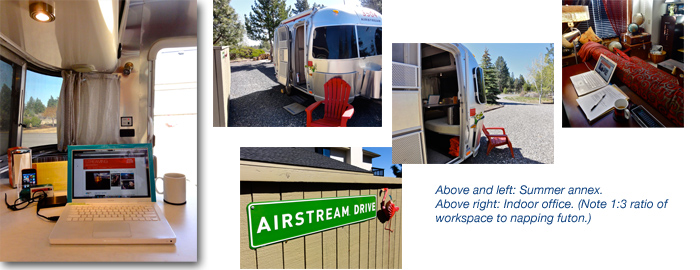 Airstream home office, Bend, Oregon